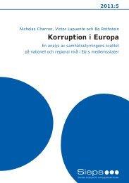 Korruption i Europa (2011:5) - Sieps