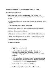 Protokoll från HIMCC`s styrelsemöte den 1/ 12 2009