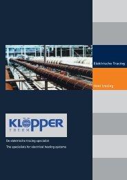 Surface heating Elektrische Tracing Heat tracing - KLÖPPER ...
