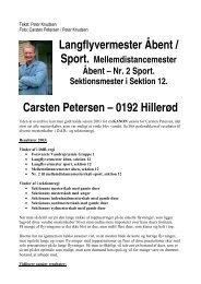 Langflyvermester Åbent / Carsten Petersen – 0192 Hillerød