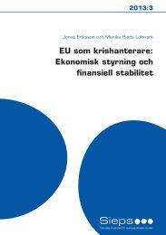 Ekonomisk styrning och finansiell stabilitet - Sieps