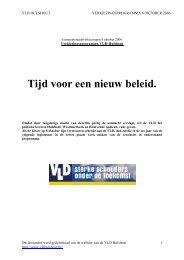 VLD programma 2006 hulshout - lokaal - Open Vld Hulshout