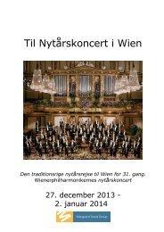 Til Nytårskoncert i Wien - Mangaard Travel Group