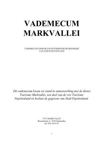VADEMECUM MARKVALLEI - Het Pajots Genootschap