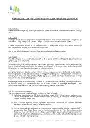 Salgs- og leveringsbetingelser - Living Energy A/S