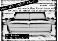 Flyer zu Offenem Forum am 24.11.2011 -