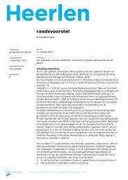 raadsvoorstel - Gemeente Heerlen