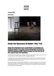 Direkt från Beckmans rån Beckmans rån Beckmans till MoMA i New ...