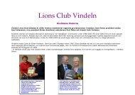 Klubbens historia - Lions Club Vindeln
