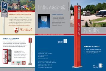 Notruf/Info - Telecom Behnke