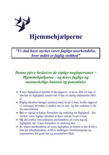Fag og faglighed for hjemmehjælpere - Faggruppeklubben Social ...