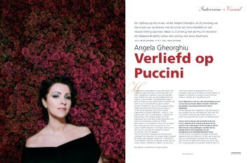 Angela Gheorghiu Interview >Vocaal - René Seghers