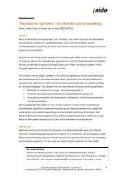 Transitie en 'systeem': de eenheid van verandering - Transitiepraktijk