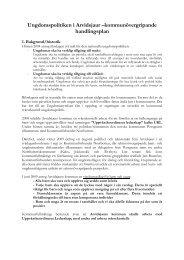 Ungdomspolitiken i Arvidsjaur – förslag till kommunövergripande ...