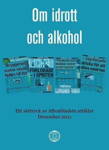 Om idrott och alkohol (pdf) - IOGT-NTO