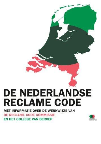 DE NEDERLANDSE RECLAME CODE - Webze