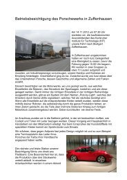 11/2012 Ein Tag bei Porsche! - KIT