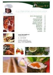 All Inn catering arrangement - Barrage BV