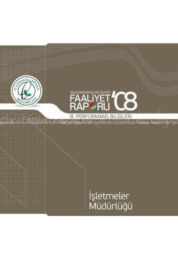 2008 Yılı Faaliyet Raporu - Gaziosmanpaşa Belediyesi