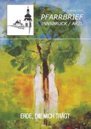 Pfarrbrief Innsbruck / Arzl - Nr. 3 Herbst 2013
