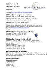 Veckoblad och matsedel vecka 19 (pdf, nytt fönster) - Västerås stad