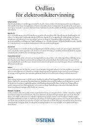 Ordlista för elektronikåtervinning - Stena Metall Group