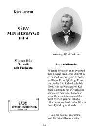 Säby del 4 Alfred Eriksson, en levnadshistoria.