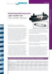 BEHNCKE Wärmetauscher QWT 100/WTI 100 ... - Aqua Solar AG