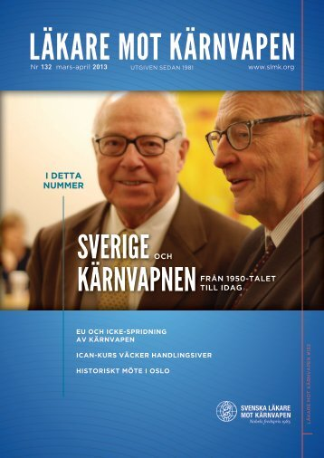 i detta nummer - Svenska Läkare mot Kärnvapen
