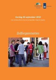 Zelforganisaties - Forum, Instituut voor Multiculturele ontwikkeling