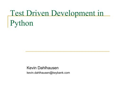 Test Driven Development In Python Pdf Power Twenty