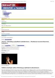Musikkonservatoriets Koncertsal, København ... - Copenhagen Phil