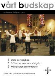 Vårt Budskap nr 4/12 - EFS Västerbotten