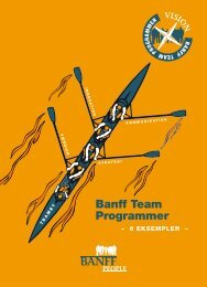 Banff Team Programmer - Banff People
