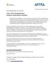 Astra Techs tandimplantat utmanar marknadens standard