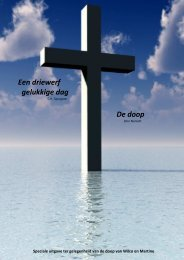 Een driewerf gelukkige dag De doop - Bijbelse overdenkingen
