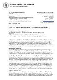Prosjektet 'Digitale trosfortellinger' – vurderinger ... - Den norske kirke