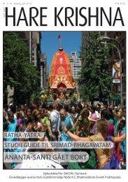 ANANTA-SANTI GÅET BORT - Nyt fra Hare Krishna