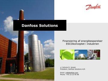 Finansiering af energibesparelser ESCOkonceptet i industrien ...