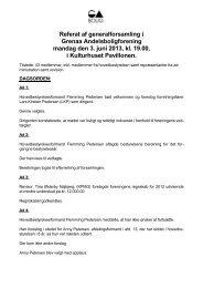 Referat af generalforsamling i Grenaa Andelsboligforening mandag ...