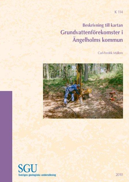 Beskrivning Till Kartan Grundvattenforekomster I Angelholms Kommun