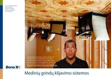 Bona medinių grindų klijavimo sistemos - Vilkonda