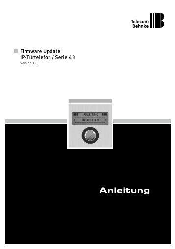 Firmware Anleitung V 1.0 - Telecom Behnke