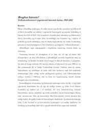 En brugbar historie - Danmarks Forskerskole for Historie