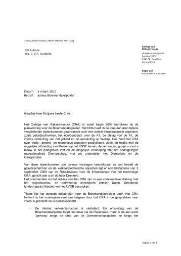 advies 2010, masterplan - College van Rijksadviseurs