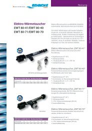 BEHNCKE Elektro-Wärmetauscher EWT 80-40/41 ... - Aqua Solar AG