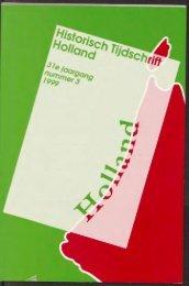 Uitgeverij Verloren - Holland Historisch Tijdschrift