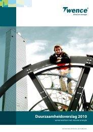 Duurzaamheidsverslag 2010 - Twence