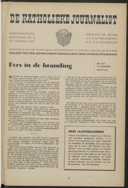 DEKflTHOLIEKS JOURNALIST