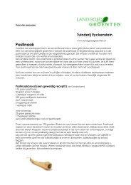 Dowload recepten pastinaak (pdf) - Landgoedgroenten